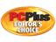 PC PLUS editors choice gold award, given to easyGen ASP and PHP dynamic web script creator